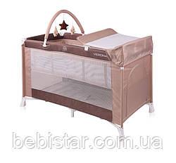 Кровать-манеж бежевый Lorelli VERONA 2 LAYERS PLUS BEIGE