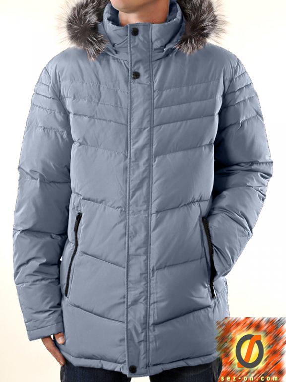Пуховик зимний Malidinu M-11626 полупальто Светло-серый #6