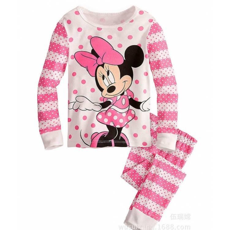 Пижама детская для девочкирозовая  Минни Маус