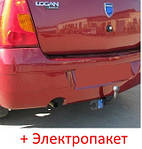 Фаркоп съемный на 2 болтах - Dacia Logan Седан (2004-2012)