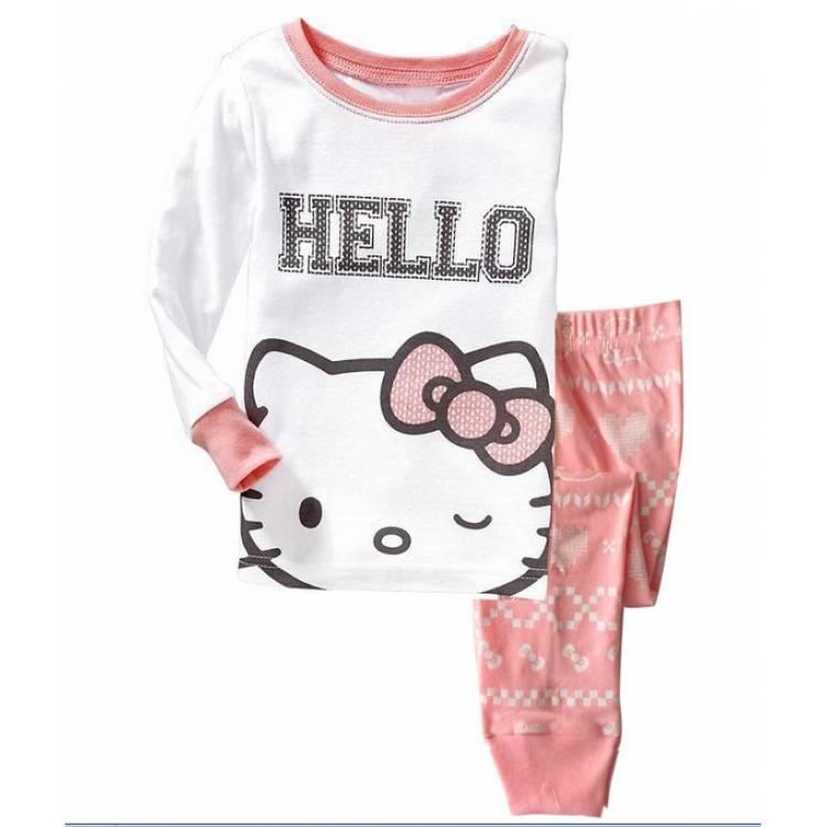 Пижама детская для девочки розовая Hello Kitty