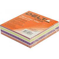 Блок для заметок клееный 80х80х20мм Delta by Axent Color 8022