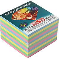 """Блок для заметок неклееный 90х90мм 900 листов радуга """"Crystal"""" (16), фото 1"""