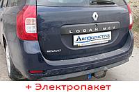 Фаркоп съемный на 2 болтах - Dacia Logan MCV Универсал (2013--), фото 1