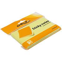 "Блок для заметок с липким слоем 75 х125 мм 100 листов желтый ""Delta by Axent"" (1) (24) №3316-01"