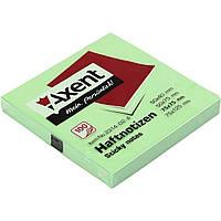 Блок для заметок с липким слоем 75х75мм Axent 2314-02 100 листов зеленых