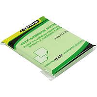 Блок для заметок с липким слоем 76х102мм 4Office 100 листов ассорти 4-425