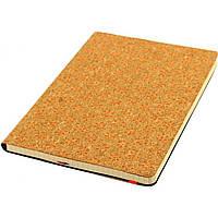Блокнот на резинке Leo Planner А5 96 листов клетка твердая обложка (интегральная пробковая) оранжевый 151016