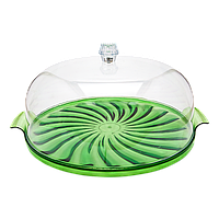 Тортовница Кристалл зеленая