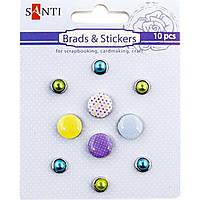 """Брадс """"Цветные точки"""" 952590 10 шт."""
