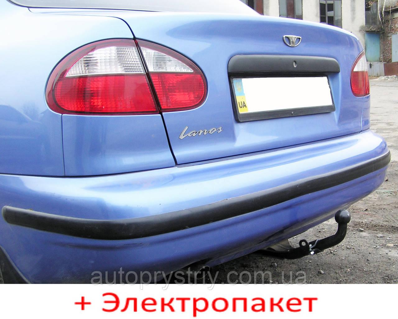 Фаркоп - Daewoo Lanos Седан/ PICK-UP включительно с ГБО (1997-2009) сварной усиленный