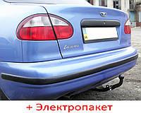 Фаркоп - Daewoo Lanos Седан/ PICK-UP включительно с ГБО (1997-2009) сварной усиленный, фото 1
