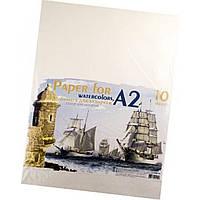 Бумага для акварели А2 (10 листов / 200 гр) в пакете (30) №ПА2110 Е / Графика /
