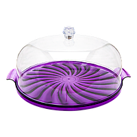Тортовница Кристалл фиолетовая