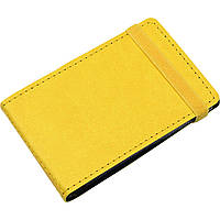 Визитница на 20 визиток Optima Vivella O51615-05 карманная на резинке желтая