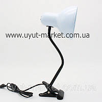 Настольная лампа E27 LMN097 белая прищепка