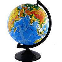 Глобус физический 260мм лакированный (на украинском)