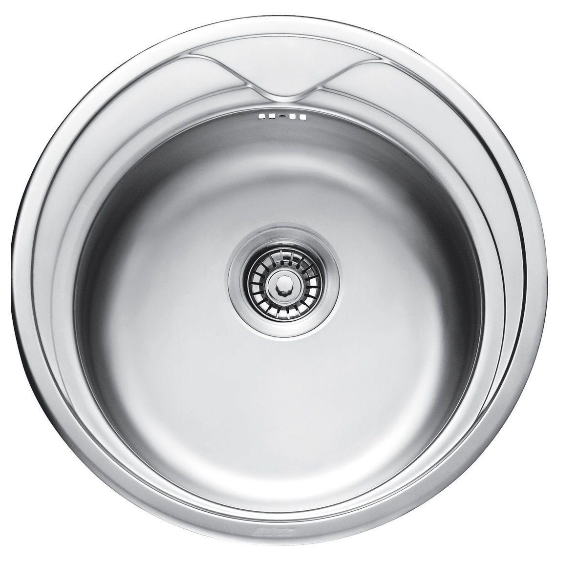 7109 Мойка CRISTAL круглая врезная 510x180 Decor