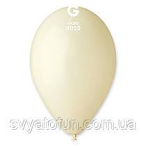 """Латексні повітряні кульки 12"""" пастель 59 айворі Gemar"""