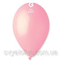 """Латексні повітряні кульки 12"""" пастель 57 світло-рожевий, Gemar"""