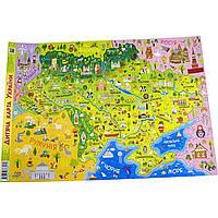 Детская карта Украины Звезда A2 Ранок 3571