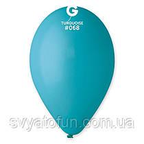 """Латексні повітряні кульки 12"""" пастель 68 темно-бірюзовий, Gemar"""