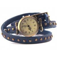 Часы на длинном кожаном ремешке, цвета
