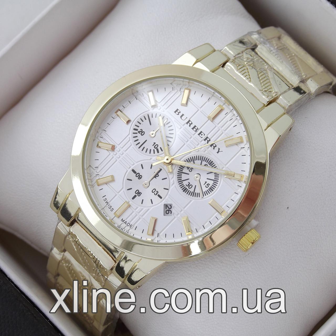 dc6b794f Женские наручные часы Burberry A66 на металлическом браслете ...
