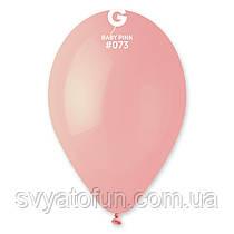 """Латексні повітряні кульки 12"""" пастель 73 ніжно-рожевий Gemar"""
