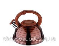 Чайник со свистком под дерево 2,5л ручка бакелит