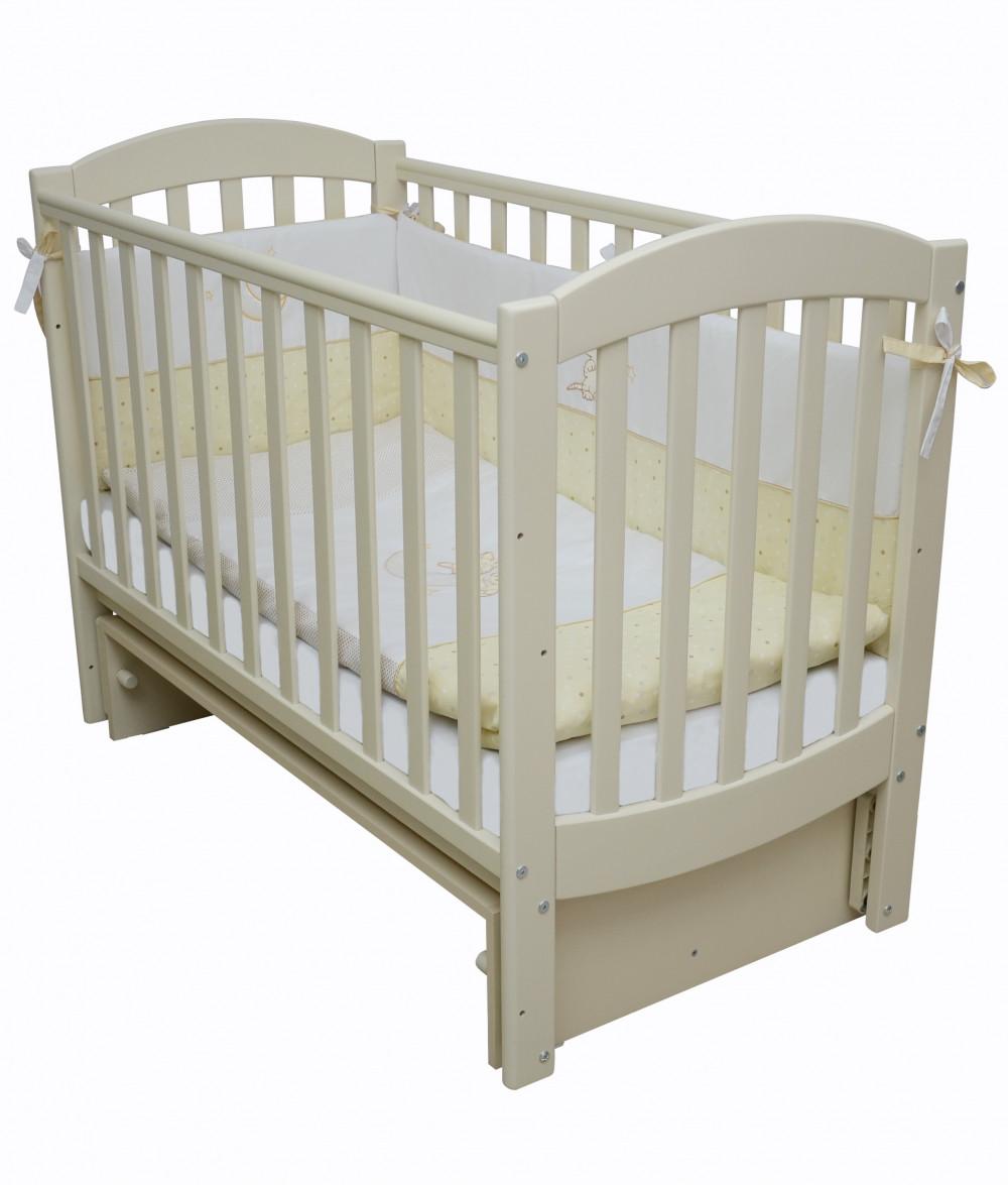 Детская кроватка Верес ЛД10 Соня маятник слоновая кость