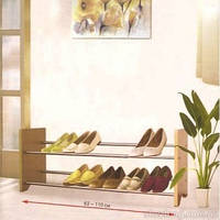 Раздвижная полка для обуви на два яруса