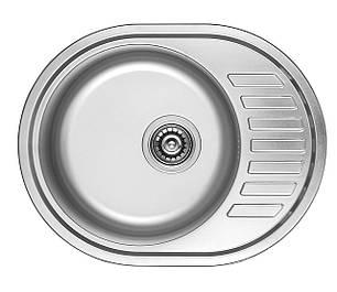 7112 Мойка CRISTAL круглая c полкой (мини кепка) 570х450х180 Decor, фото 2