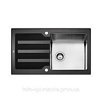 Кухонная мойка черное стекло TEKA LUX 1B 1D 86 Black