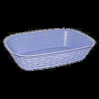 Хлебная корзина под ротанг фиолетовая