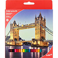 "Карандаши цветные 24 цвета ""Kite"" Города (6) (120) №K17-055-2"