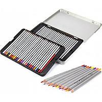 Карандаши цветные Marco 50 цветов металлическая коробка 7100-50TN