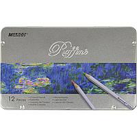 Карандаши цветные Marco 7100-12TN 12 цветов металлическая коробка