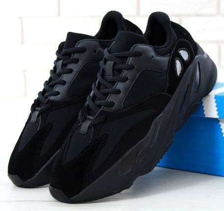 Мужские кроссовки в стиле Adidas Yeezy Boost 700 Wave Runner Black, фото 2