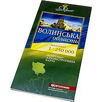 """Карта """"Волынская область"""" политико-административная 1:250000 Картография 5031"""