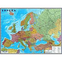 Карта Европы политическая 1:3850000 160х110см картон планки