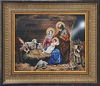 Схема вышивки бисером на ткани Рождество Христово