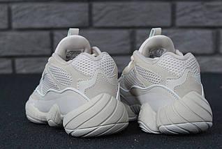 Женские и мужские в стиле кроссовки Adidas Yeezy Boost 500 Blush, фото 2