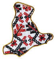 Набор - магнит для вышивки бисером Карта Украины Киевская область
