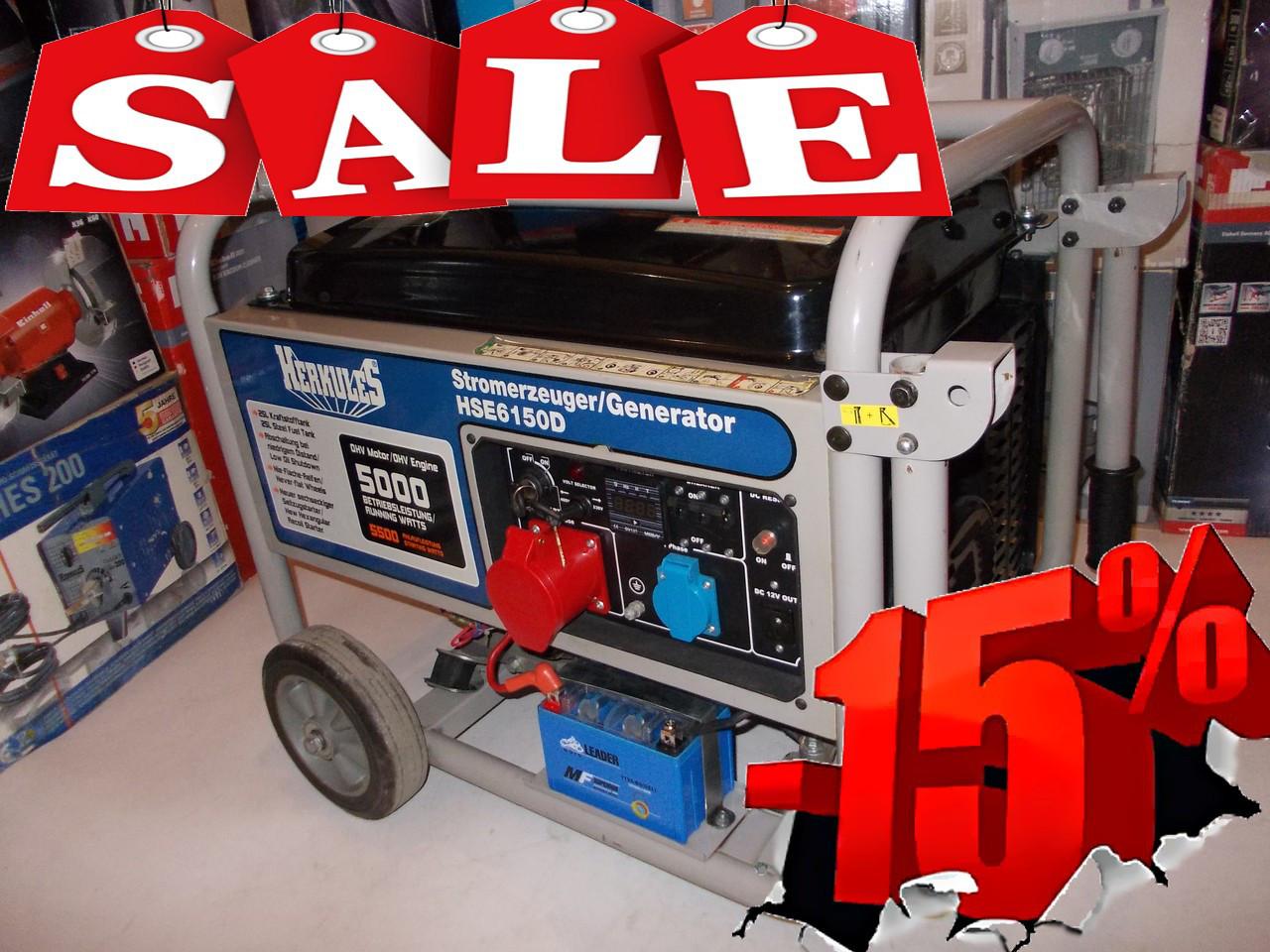 Генератор бензиновый herkules hse 6150 d , цена 14 875 грн., купить