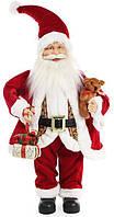 """Новогодняя игрушка """"Санта Клаус"""" 46см, в красном (105)"""
