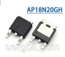 Польовий Транзистор AP18N20GH - ТО252 FET N-channel 200V, 18A