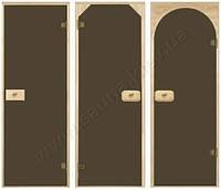 Двери для саун, двери стеклянные для саун (Бронза, шиншила, матовые)