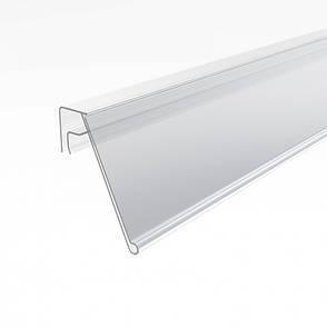 Ценникодержатели стеллажные, держатели для ценников на корзину или проволку KE 39 белый, фото 2