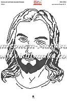 Схема для вышивки бисером на атласе Ісус